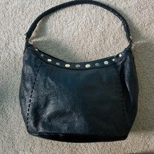 The Sak black leather hobo